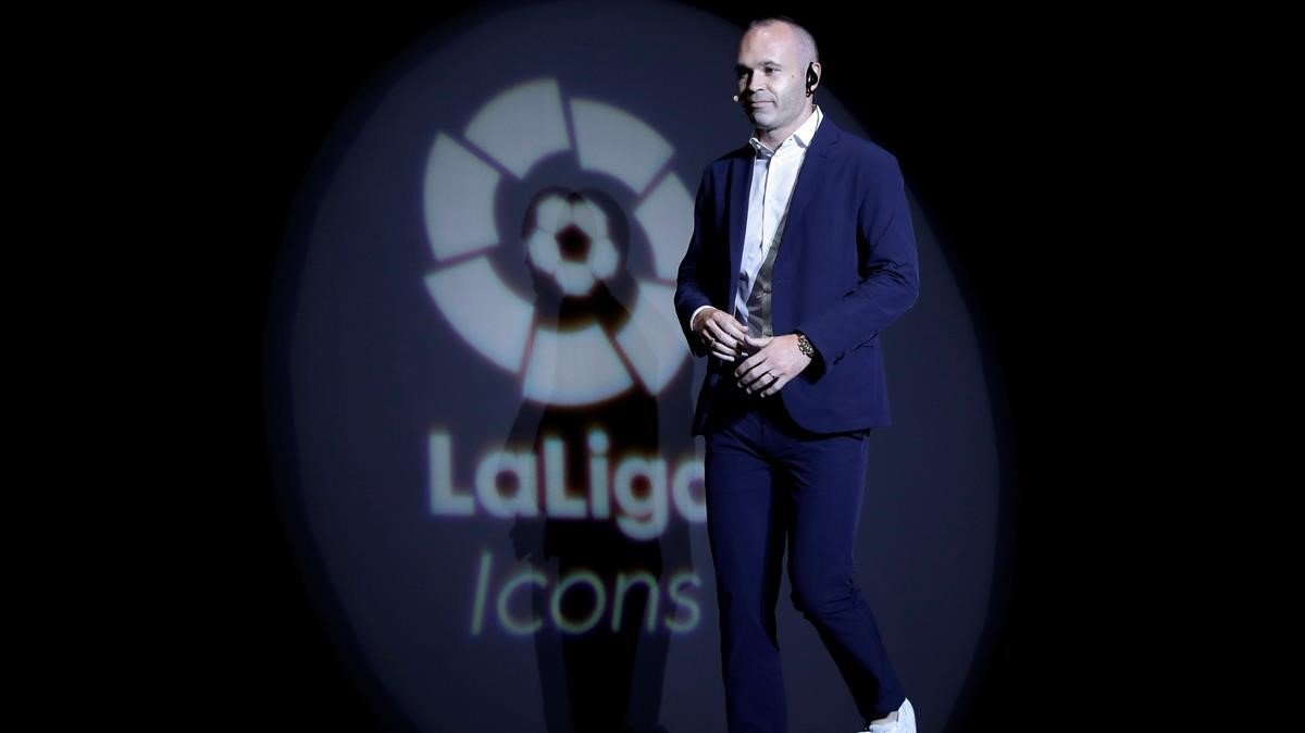 Iniesta, nuevo embajador de la Liga de Fútbol Profesional (LFP) en Tokio.