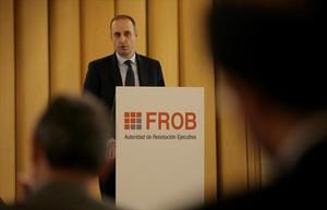 Jaime Ponce, presidente del FROB, en unas jornadas sobre resolucion bancaria en febrero.