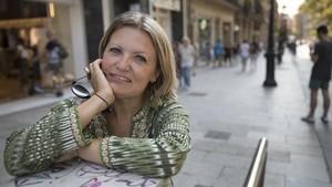 Anna Trilla, en unade sus visitas a su Barcelona natal.