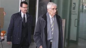 Daniel Osàcar, a la llegada al Palau de la Justicia.
