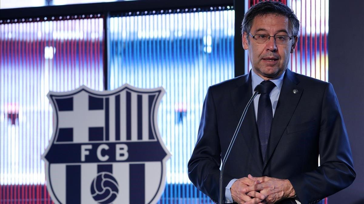 Josep Maria Bartomeu, este martes en Barcelona.