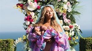 Beyonce lidera el número uno en la lista de Instagram con las imágenes del anuncio de su embarazo de mellizos y de la presentación oficial de los recién nacidos.