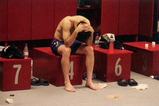 Cesc, desolado tras la derrota.
