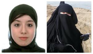 Fotografías facilitadas por el ministerio de Interior de las dos españolas detenidas en la frontera turco-siria.