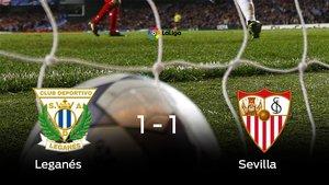 El Leganés empató frente al Sevilla (1-1)