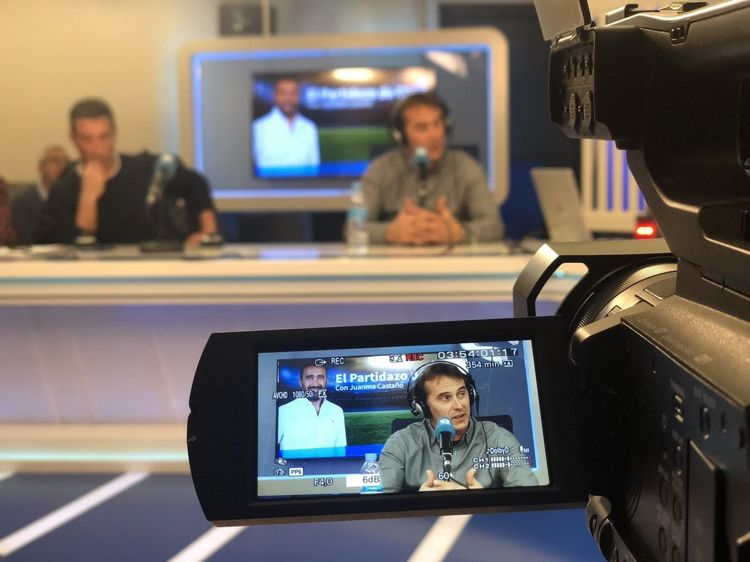 Julen Lopetegui, durante la entrevista radiofónica.