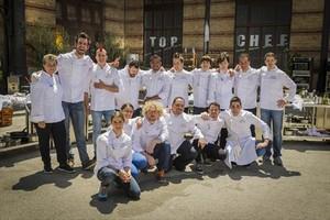 Los 16 concursantes de Top chef que esta noche se presentan en la gala inaugural del concurso de A-3.