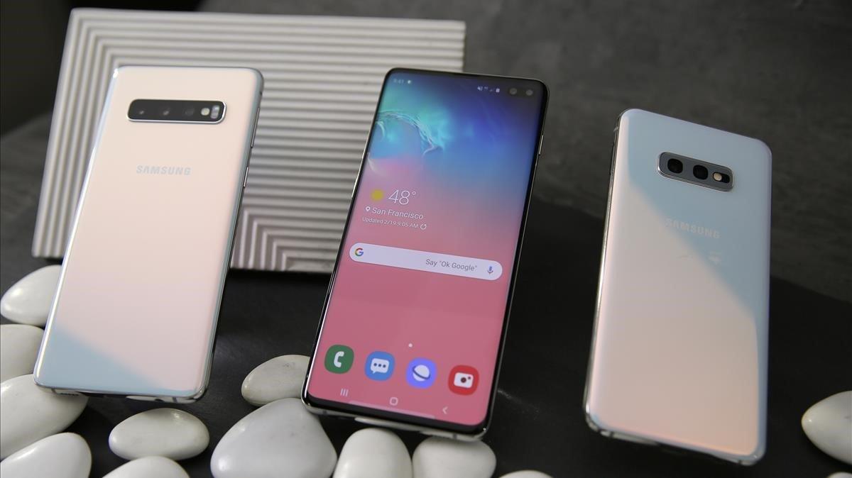 Los nuevos Samsung Galaxy S10.