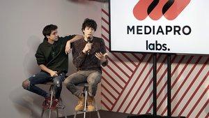 Javier Ambrosi y Javier Calvo, en la presentación de Mediapro Labs.