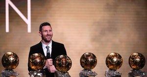 Messi logra obtener su sexto Balón de Oro.