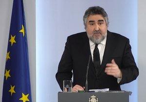 El ministro de Cultura y Deporte, José Manuel Rodríguez, en la rueda de prensa posterior al Consejo de Ministros.