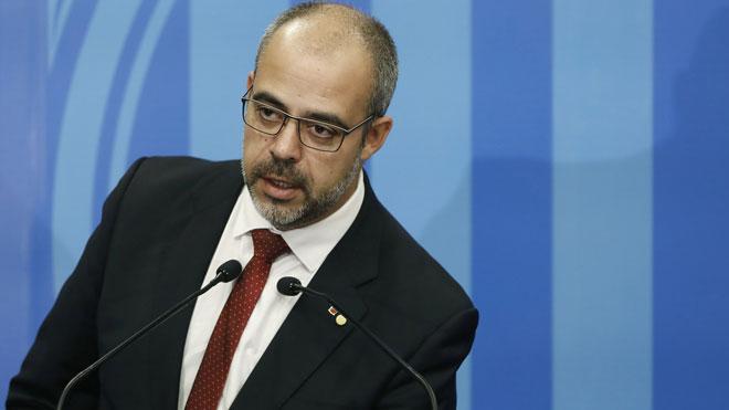 Miquel Buch (foto) y el comisario Eduard Sallent explican el dispositivo de seguridad del Barça-Madrid.