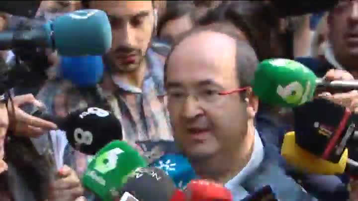 Miquel Iceta llega al comité federal del PSOE.