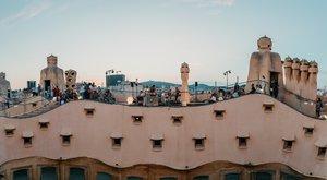 La espectacular azotea del edificio,durante uno de los conciertos.