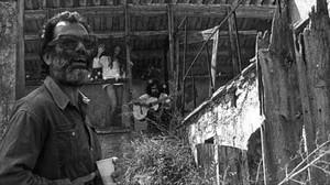 Nunes,durante el rodaje de 'Iconockaut', en una foto de la exposición en el Arts Santa Mònica.