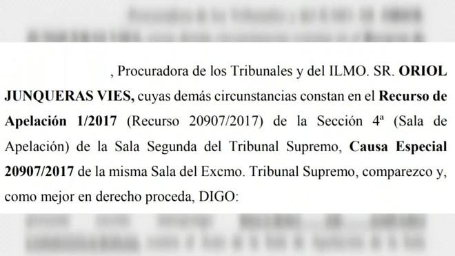 Oriol Junqueras ha pedido amparo al Tribunal Constitucional para quedar en libertad.
