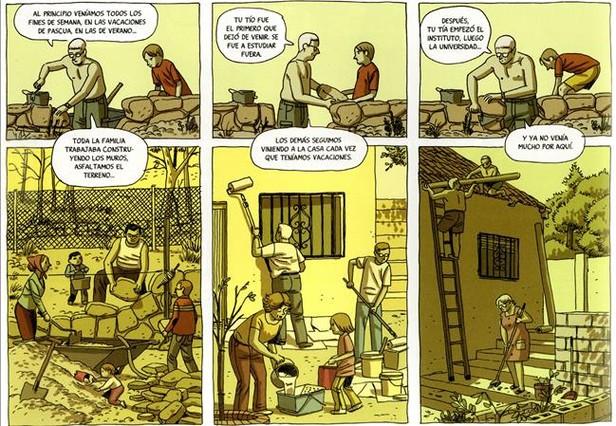 Página de La casa, nuevo cómic de Paco Roca.