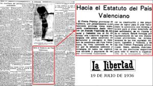 Página del diario La libertad, el diario más difundido en Madrid entre los años 20 y 30.