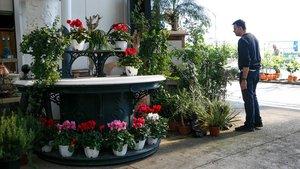 La parada de flores más antigua de la rambla, ahora en un almacén de Vilassar de Mar.