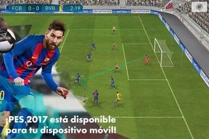 El juegoPES2017 para móviles.