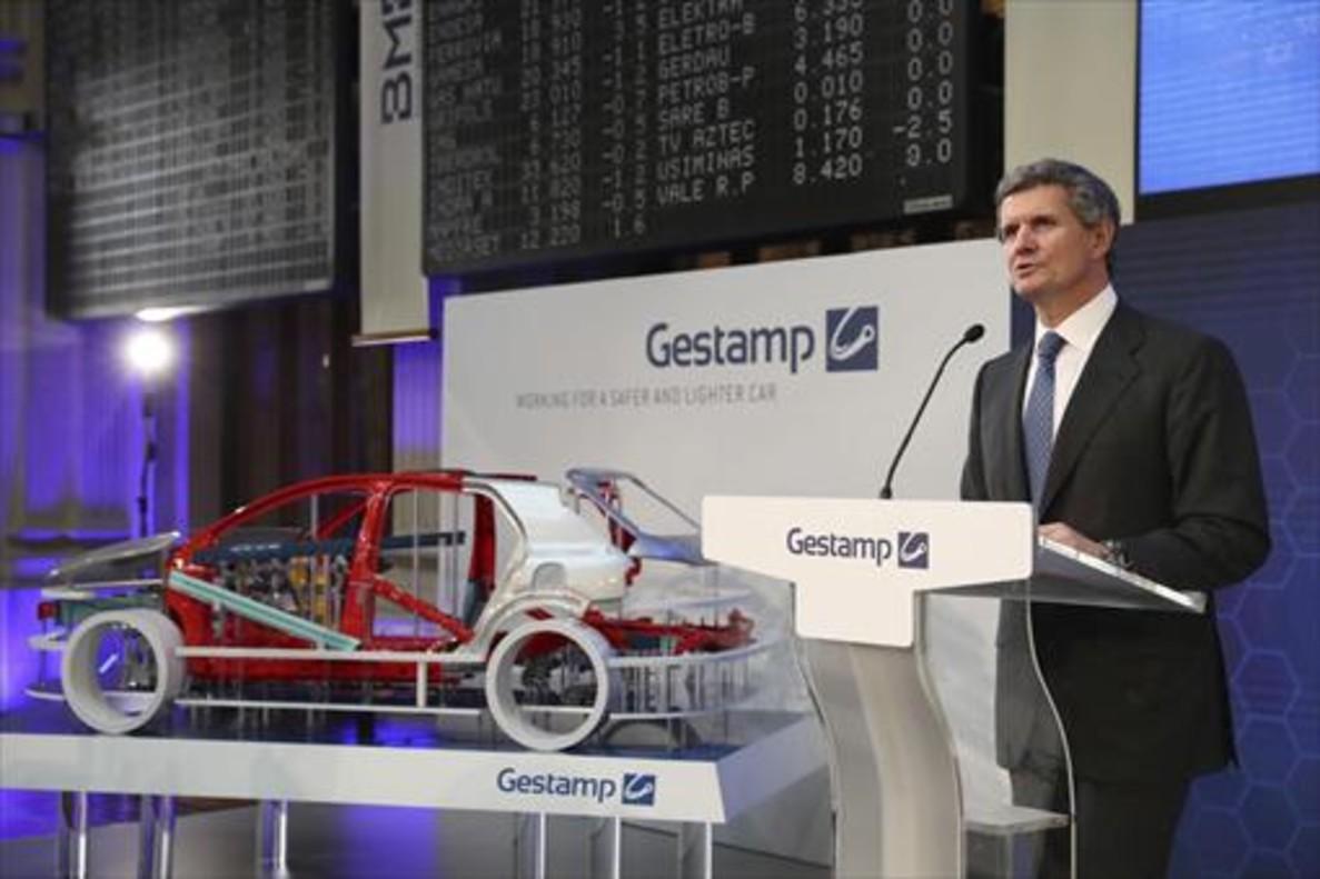 El presidente de Gestamp, Francisco J. Riberas, en el acto de salida a bolsa de la sociedad.