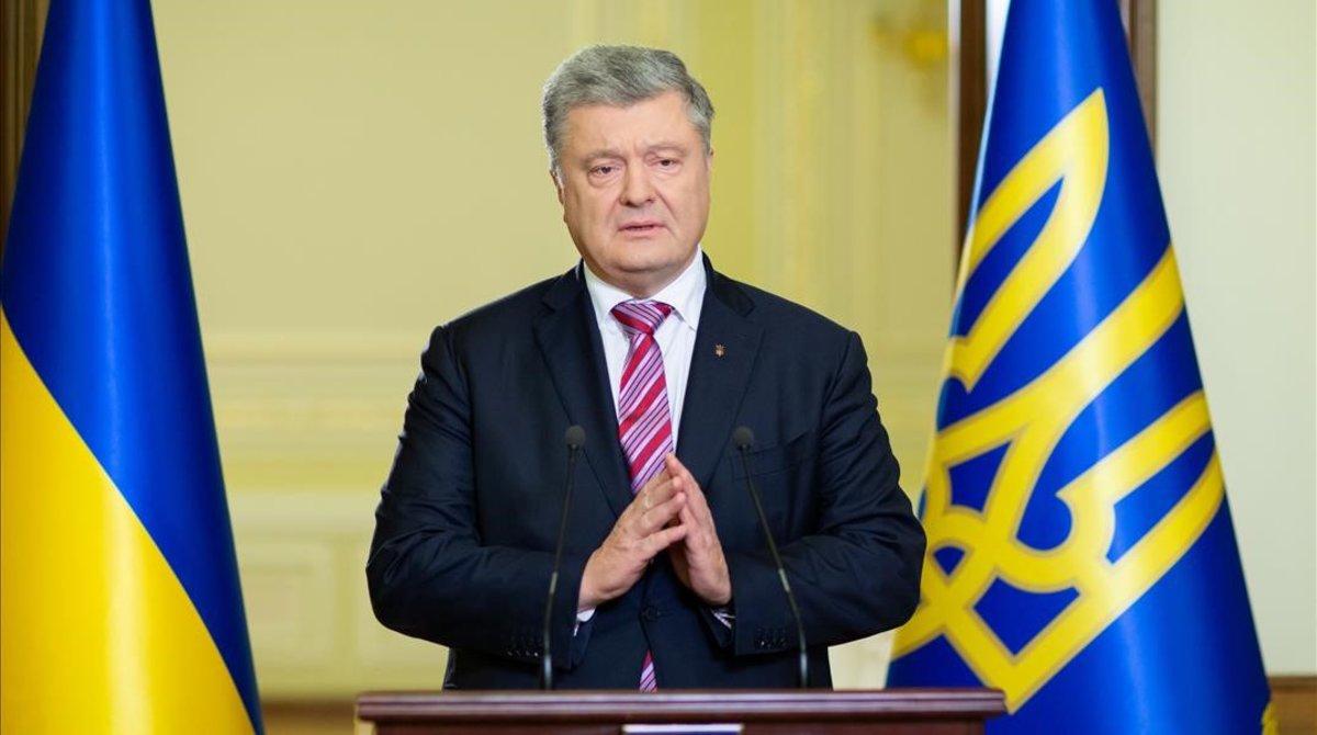 El presidente de Ucrania, Petro Poroshenko.
