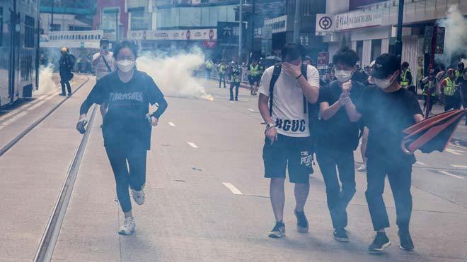 Protestas en Hong Kong por la propuesta de ley de seguridad nacional.