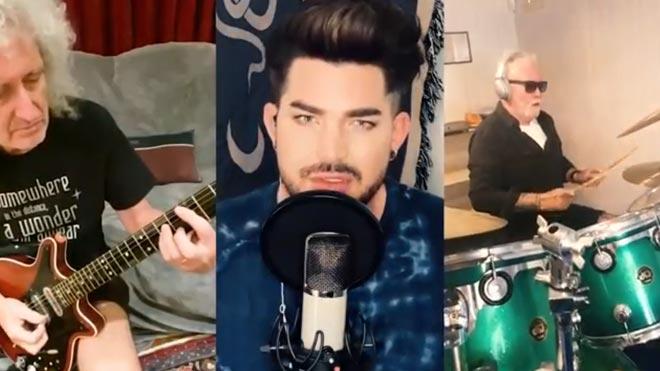 Queen y Adam Lambert interpretan 'You are the champions'.
