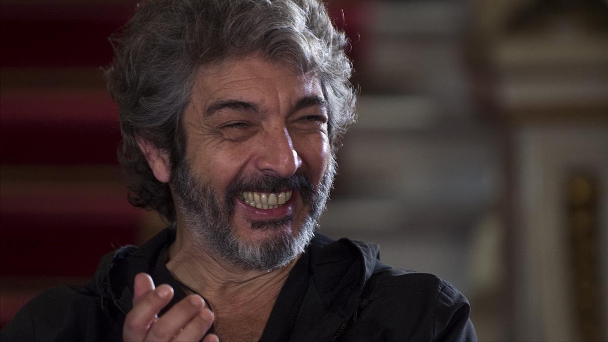 Ricardo Darín, de muy buen humor, en el Teatre Tívoli deBarcelona.