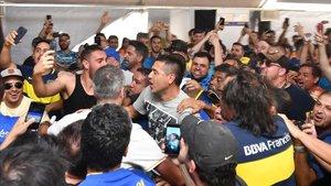 Riquelme tras votar en las elecciones a la presidencia de Boca Juniors.