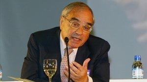 Rodolfo Martín Villa en Forum Barcelona en el año 2004