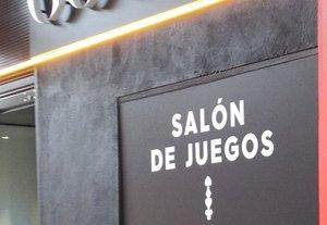 Salón de juegos en Madrid.