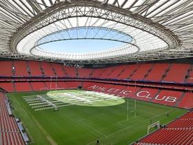 San Mamés preparado para albergar la final de la Champions Cup de Rugby.