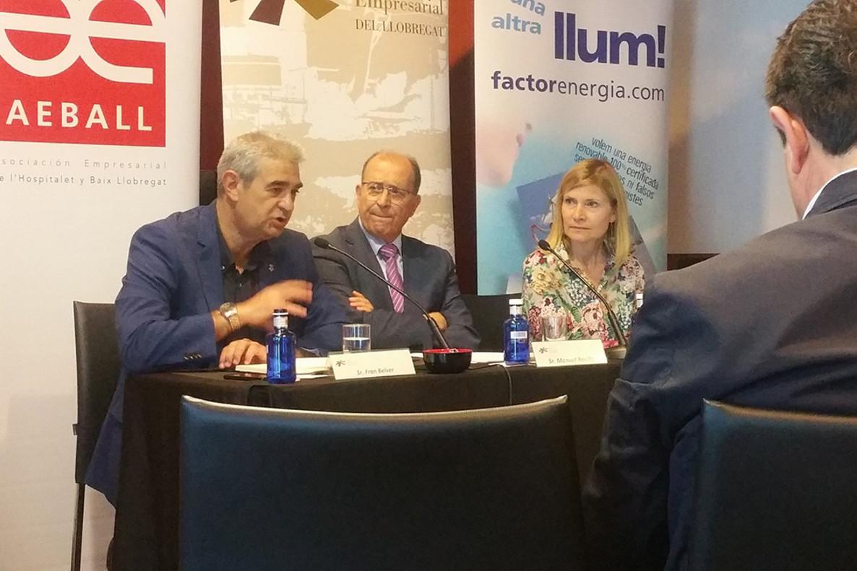Moret, alFòrum Empresarial Llobregat.
