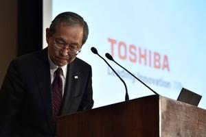 Satoshi Tsunakawa, presidente de Toshiba.