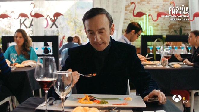 El crítico gastronómico instantes antes de morir (Cuerpo de élite, A-3 TV).