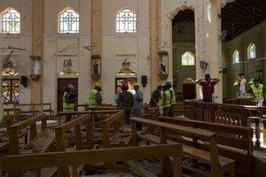 Los atentados de Sri Lanka dentro de una iglesia.