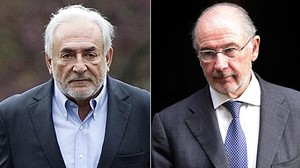 Dominique Strauss-Kahn y Rodrigo Rato.