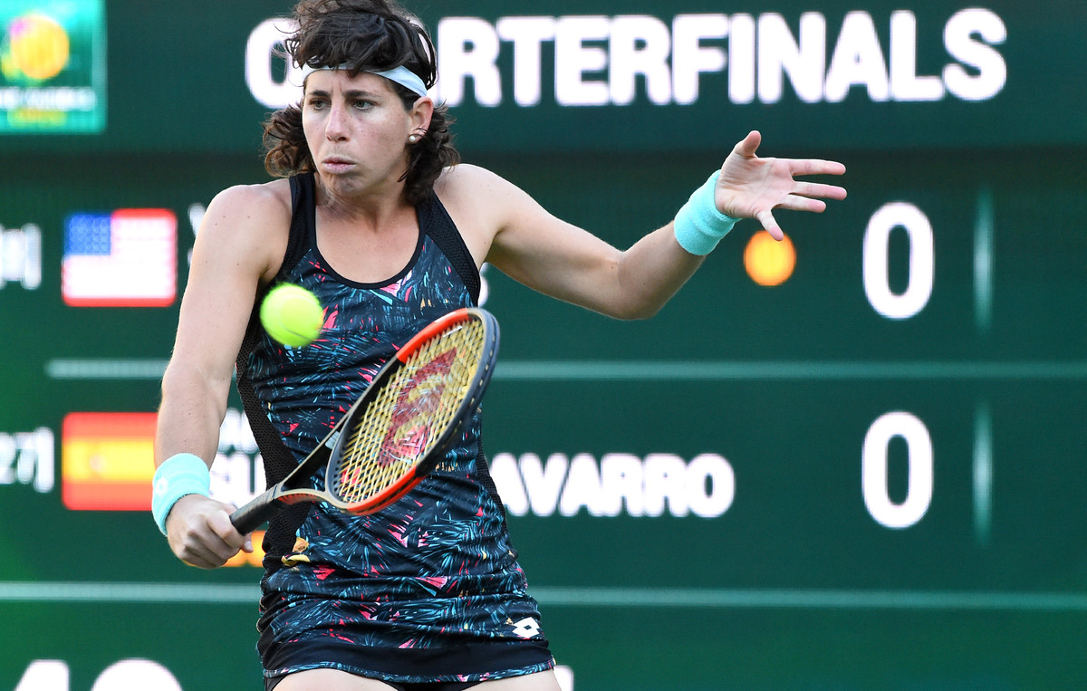 Carla Suárez, derrotada.