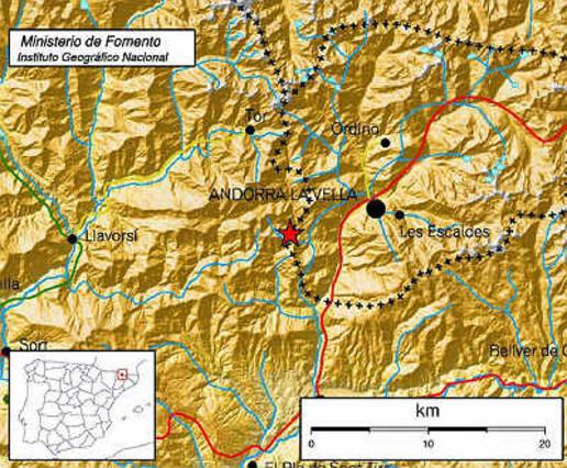 Un terremoto de 3,3 grados se ha dejado notar en Andorra.