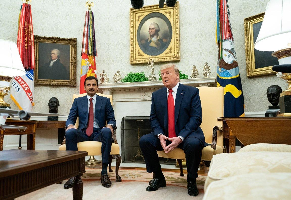 Donald Trump y el emir de catar en la Casa Blanca. EFE