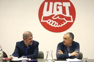 Unai Sordo (CCOO) y Pepe Álvarez (UGT).