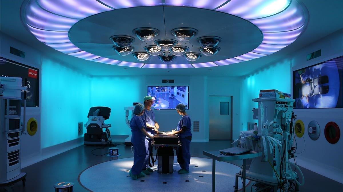 El quirófano Optimus del Hospital Clínic.