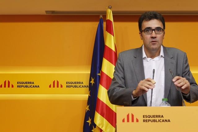 El vicesecretari general dERC, Lluís Salvadó, aquest dijous a la seu del partit.