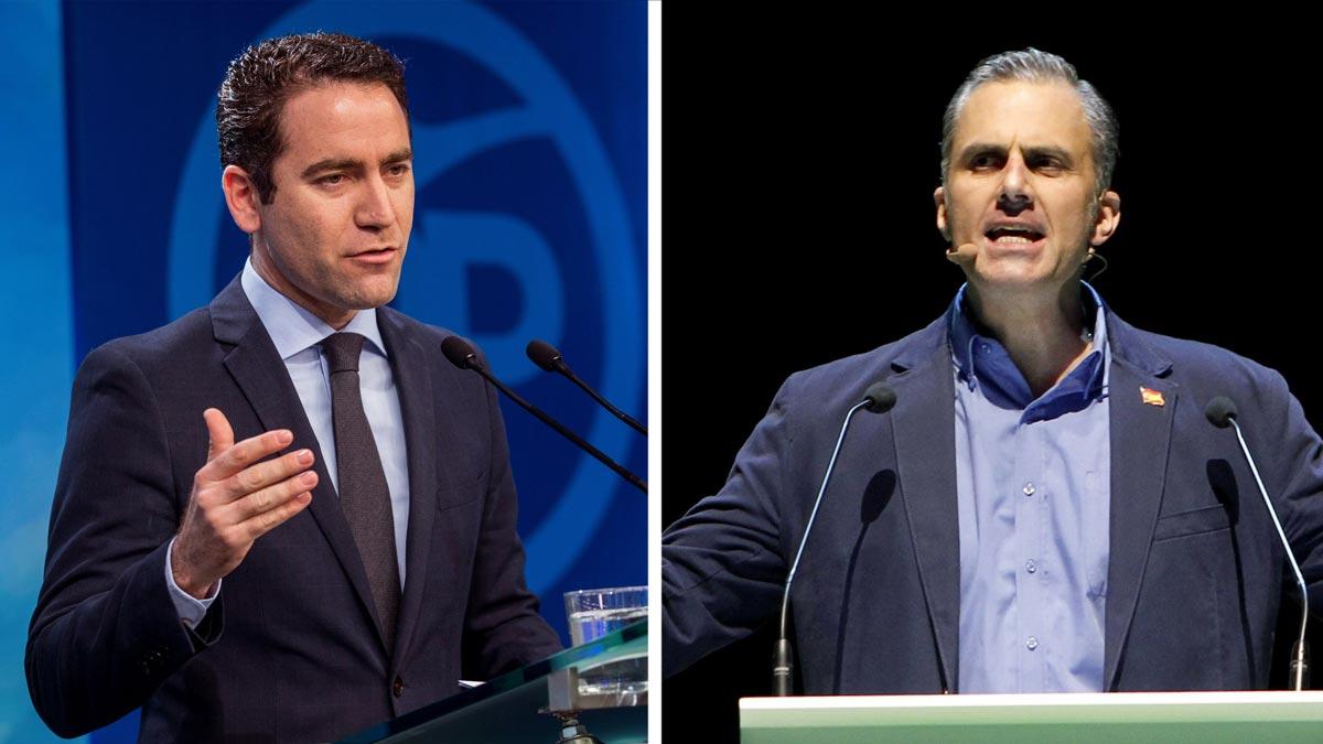 Los secretarios generales del PP, Teodoro García Egea, y de Vox, Javier OrtegaSmith, se reúnen esta tarde en Madrid para abordar la investidura de Juan Manuel Moreno.