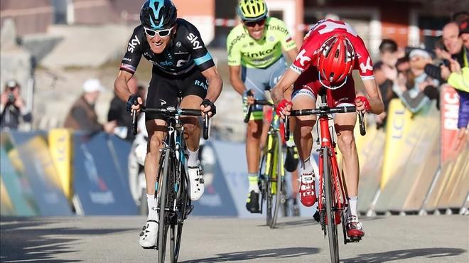 Contador pone el espectáculo en la París-Niza