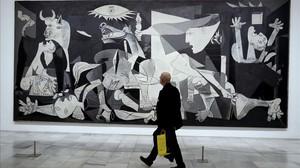 El Guernica, la obra maestra de Picasso e icono del sufirmiento y horror del siglo XX.