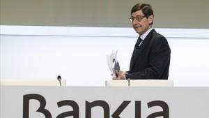 Bankia guanya un 22,3% menys i redueix la seva previsió de benefici per al 2020