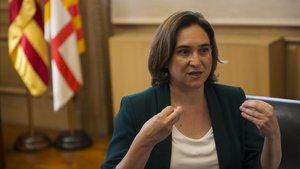 Ada Colau: «Torra també hauria d'haver condemnat els insults masclistes de la plaça»