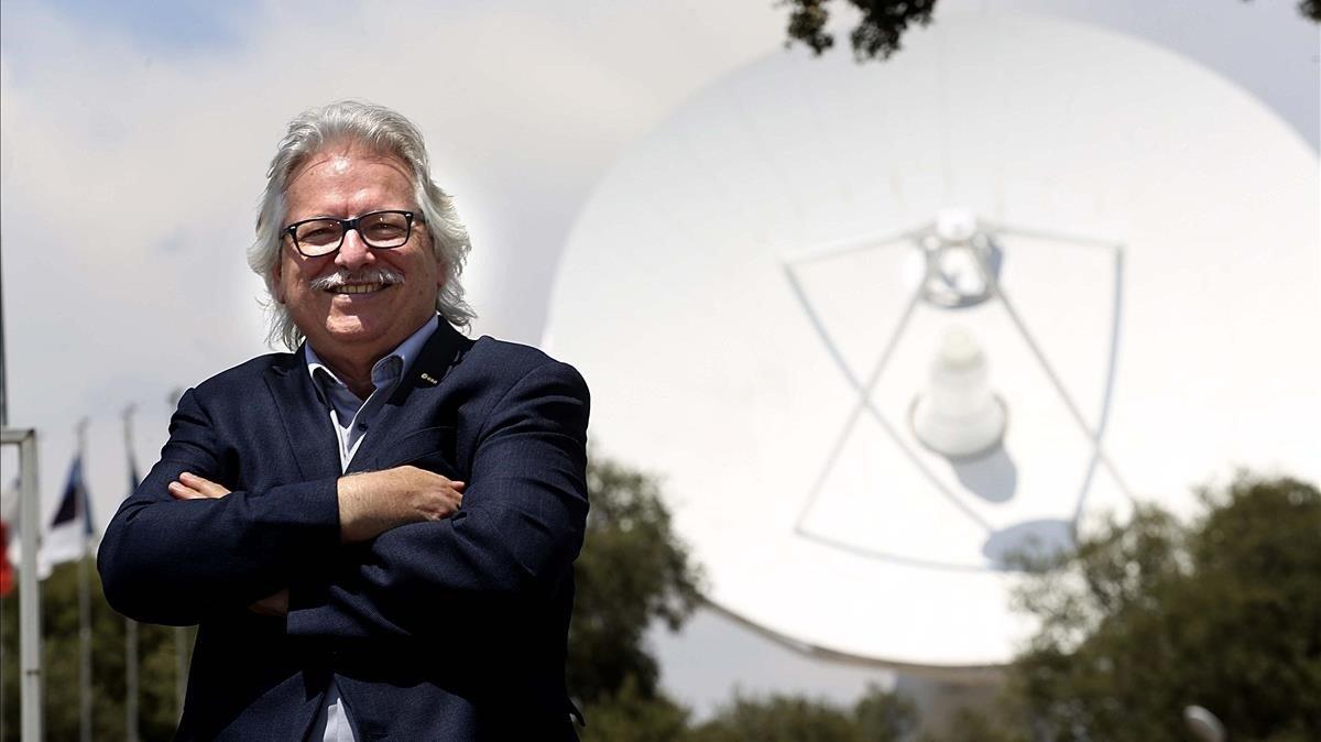 GüntherHasinger, director científicode la ESA,en la sede de la agencia de Villanueva de la Cañada(Madrid)